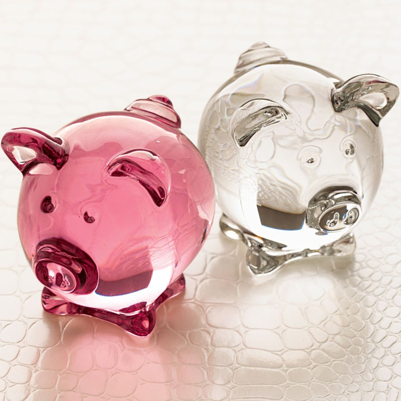 French Crystal Pig Baccarat Crystal Gifts