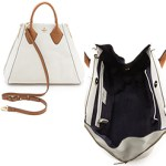 Pour La Victoire Chic White Leather Tote Bag $385 FREE GLOBAL SHIPPING