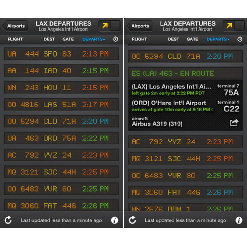 Departure & Arrival Flightboard App Review