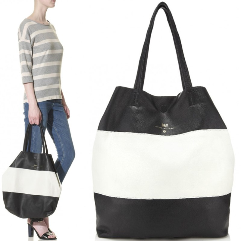 Black And White Striped Tote Bag. FREE SHIPPING ...