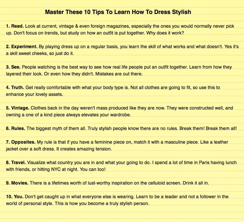 Master These 10 Tips To Learn How To Dress Stylish