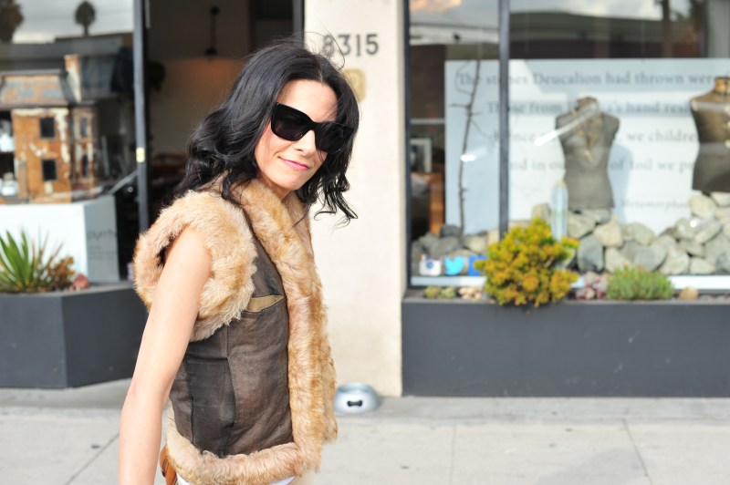 Desert Dreaming - How To Wear Earth Tones With A Faux Fur Vest