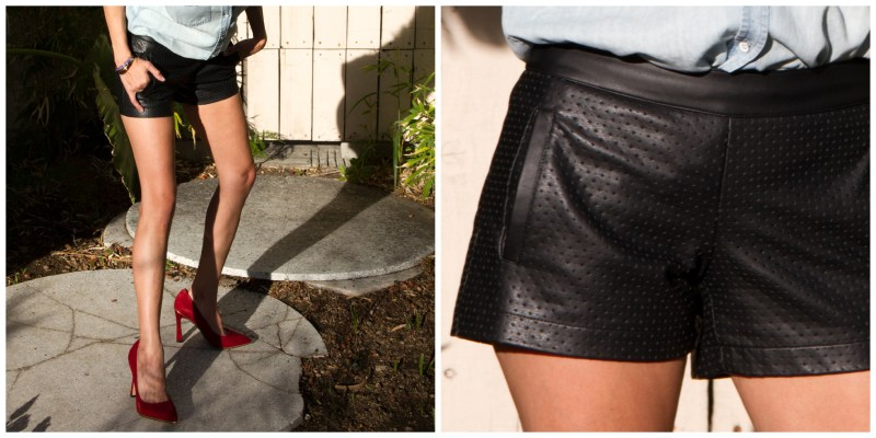 How To Wear Faux Leather Shorts? Keep It Simple
