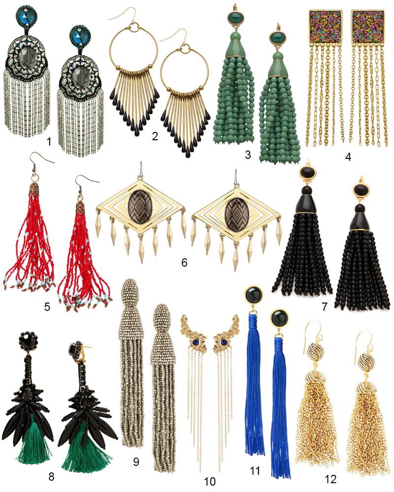 The Hot List - 12 Modern Tassel Earrings To Wear Right Now