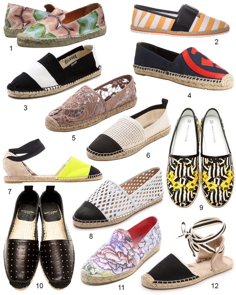 The Hit List - 12 Modern Espadrille Cool Shoes