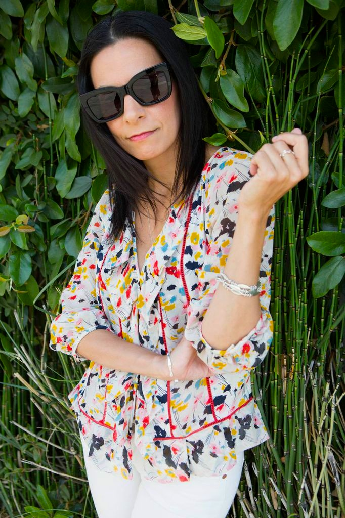 Floral Print Blouse - CuratedCool.com