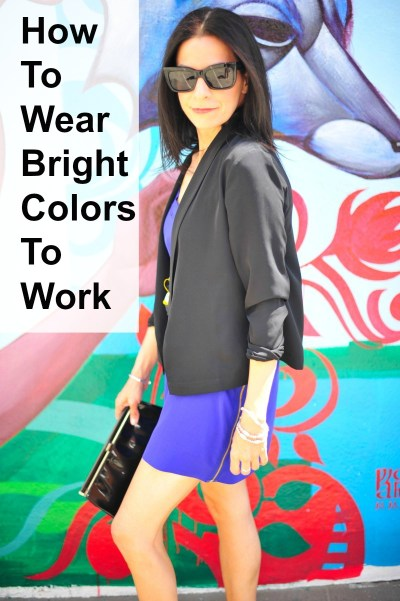 How to Wear Bright Colors to Work
