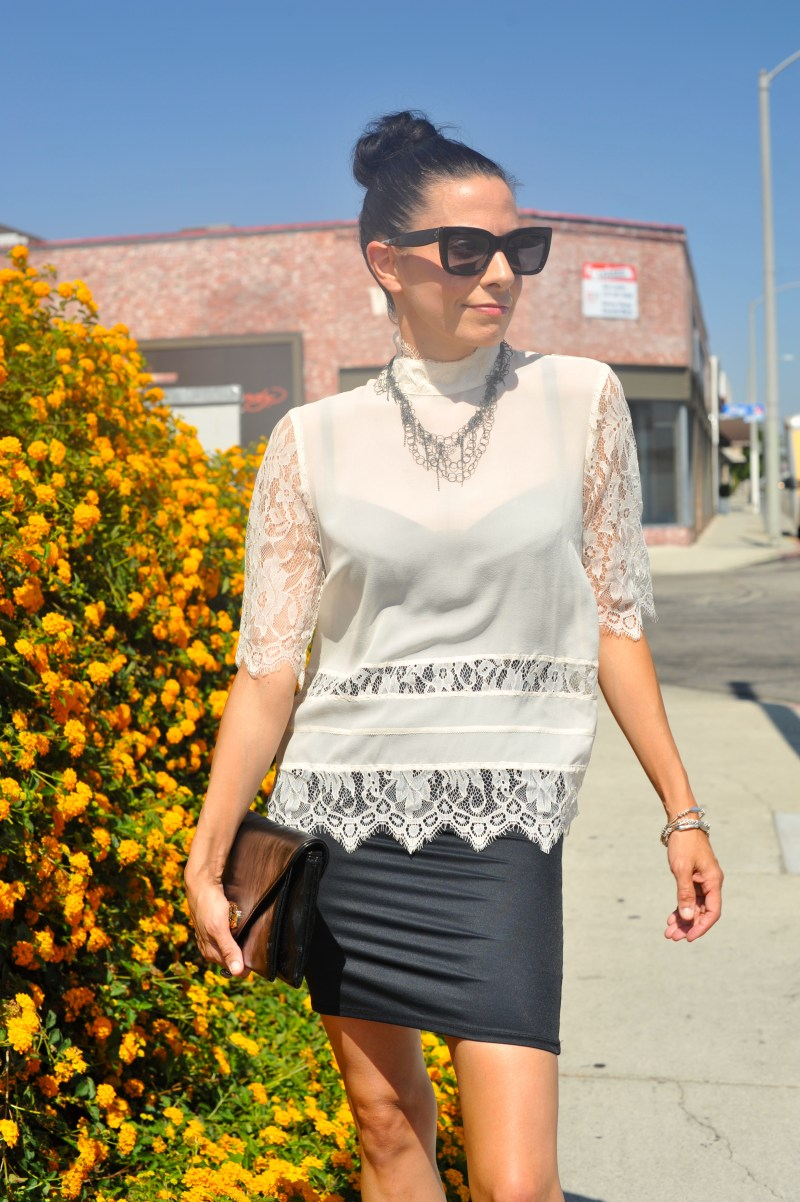 Silky Vibes In A Victorian Lace Blouse