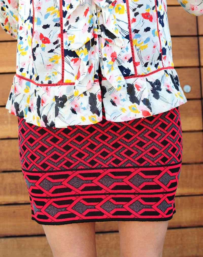 Prints and Patterns - DVF Blouse - Parker Skirt