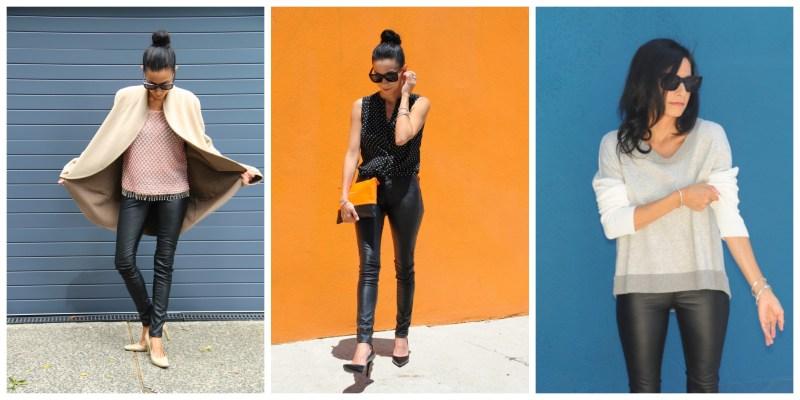 Blank Denim NYC - Faux Leather Skinny Pants