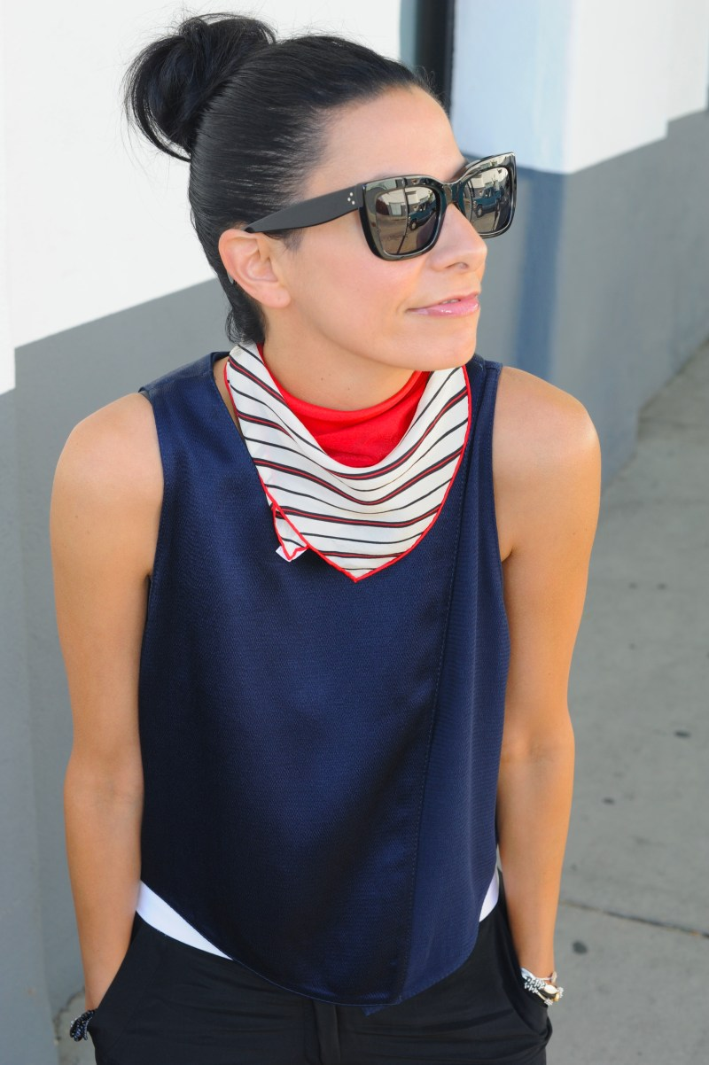 Red White And Blue - Townsen Tank - Jenni Kayne Tuxedo Pants