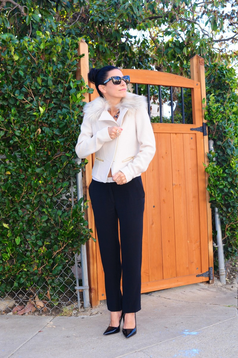 Why Faux Fur Trim Is My New Fave Thing - Ann Taylor Faux Fur Jacket