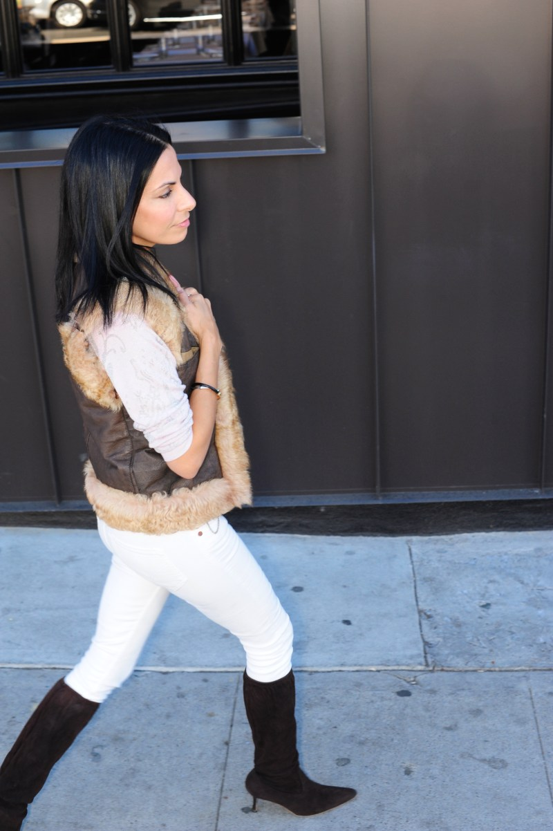 Second Day Of Cool - Janesko Necklace - Parker Sweater - Manolo Blanhik Boots