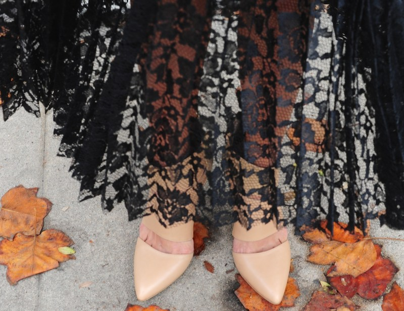 Ninth Day Of Cool - Sole Society Wynn Heels - Sole Society Earrings - Free People Black Lace Skirt
