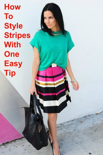 How To Style Stripes With One Easy Tip