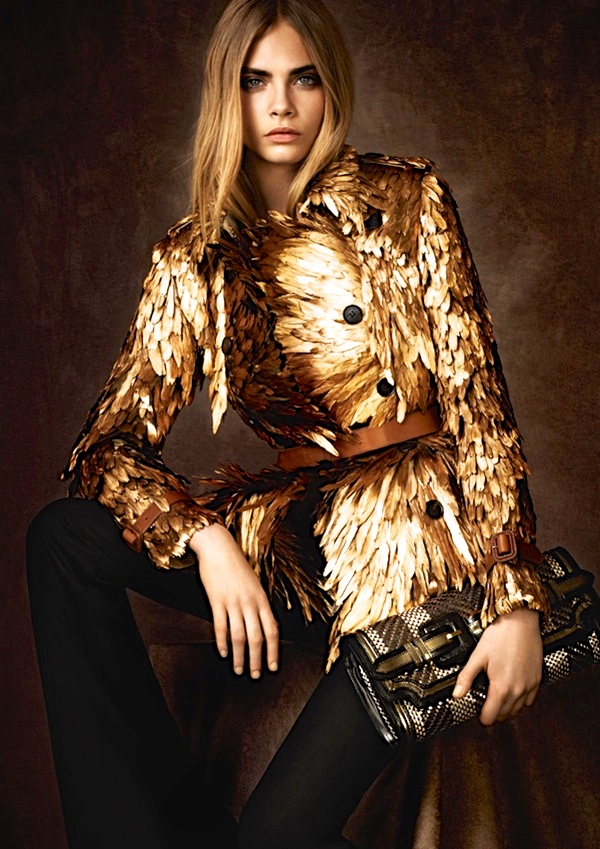 Modern Trench Coat Burberry Gold Feather Coat