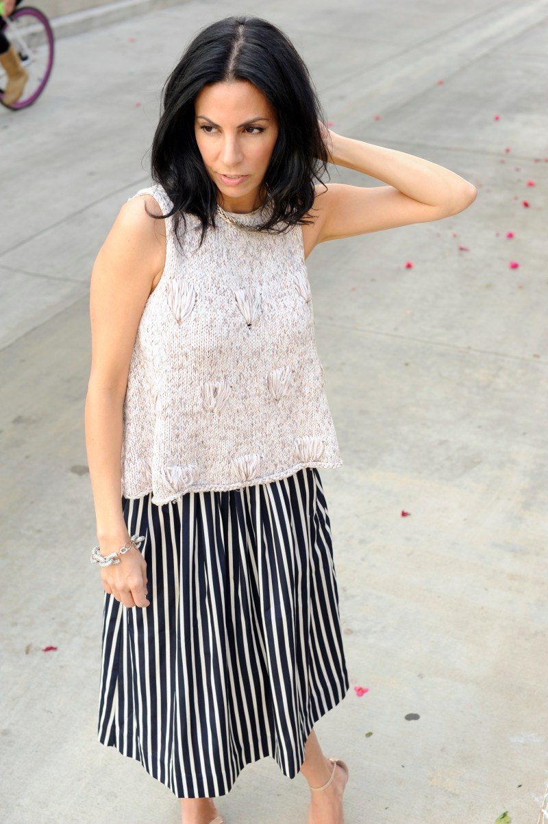 Cool Calm Collected - Rachel Comey Knit - J Crew Striped Skirt