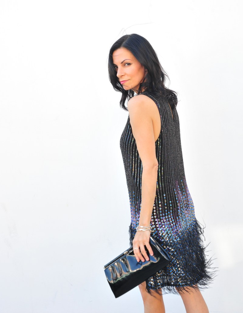 Parker Sequin Feather Dress - Curated Cool