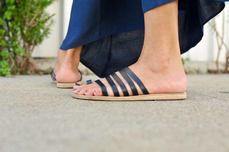 going with the flow Ancient Greek Niki Sandals