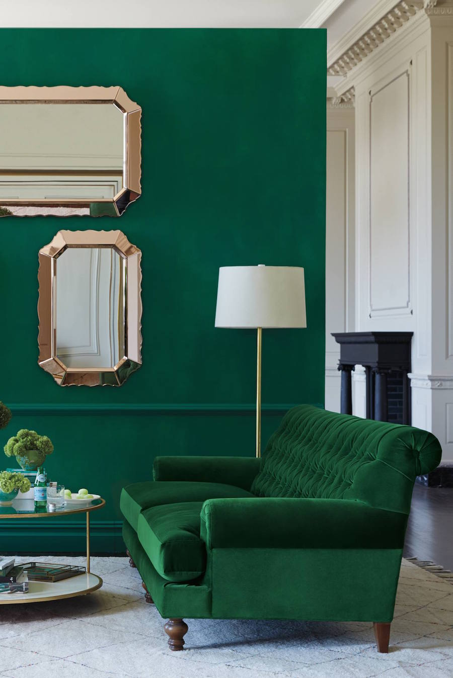 30 Lush Green Velvet Sofas In Cozy Living Rooms