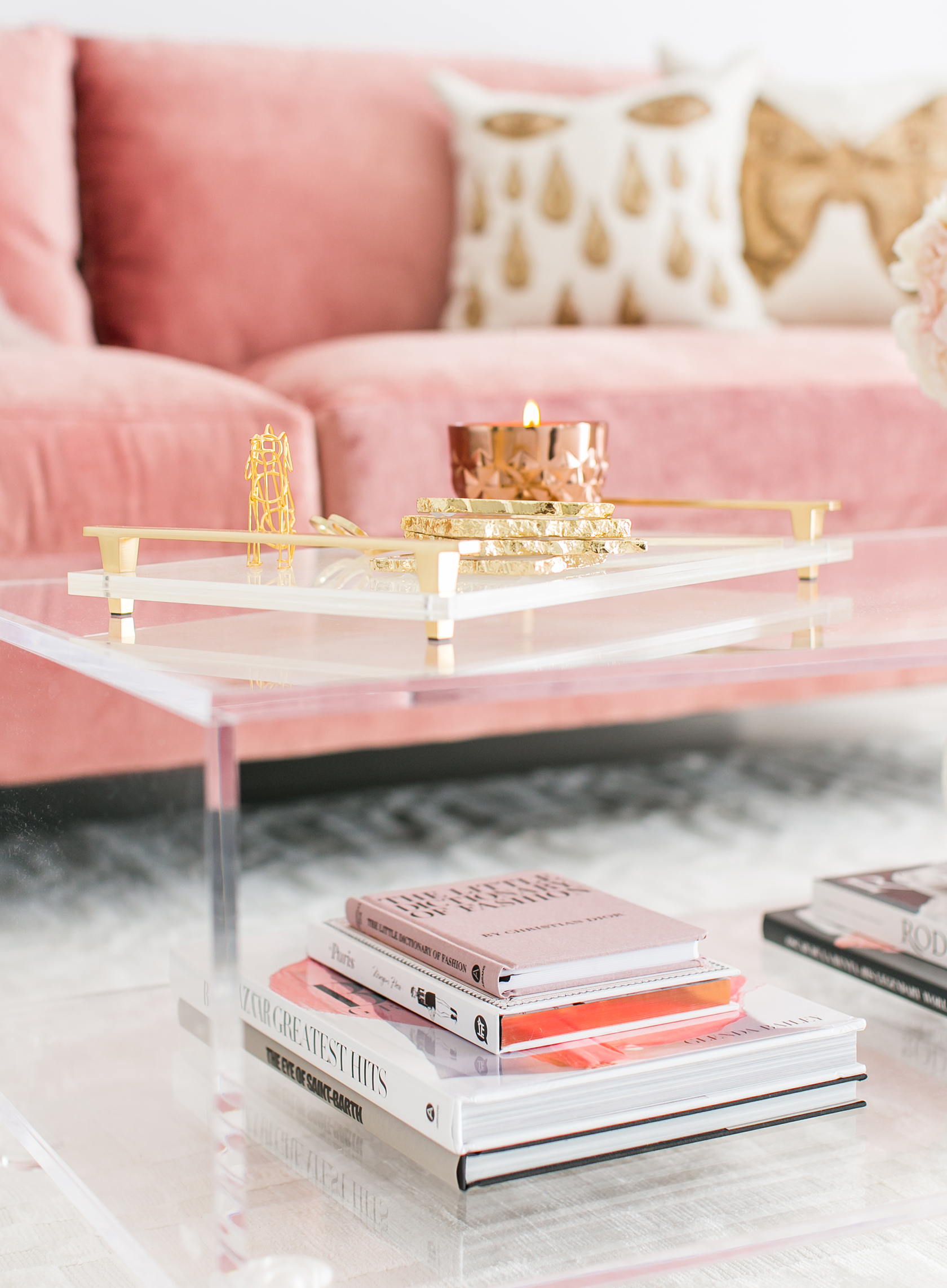 Sydne Summers Gorgeous West Hollywood Home In Blush Amp White