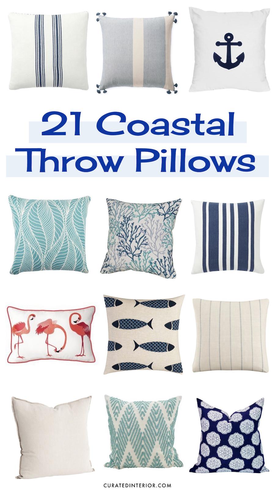 21 coastal throw pillows perfect for