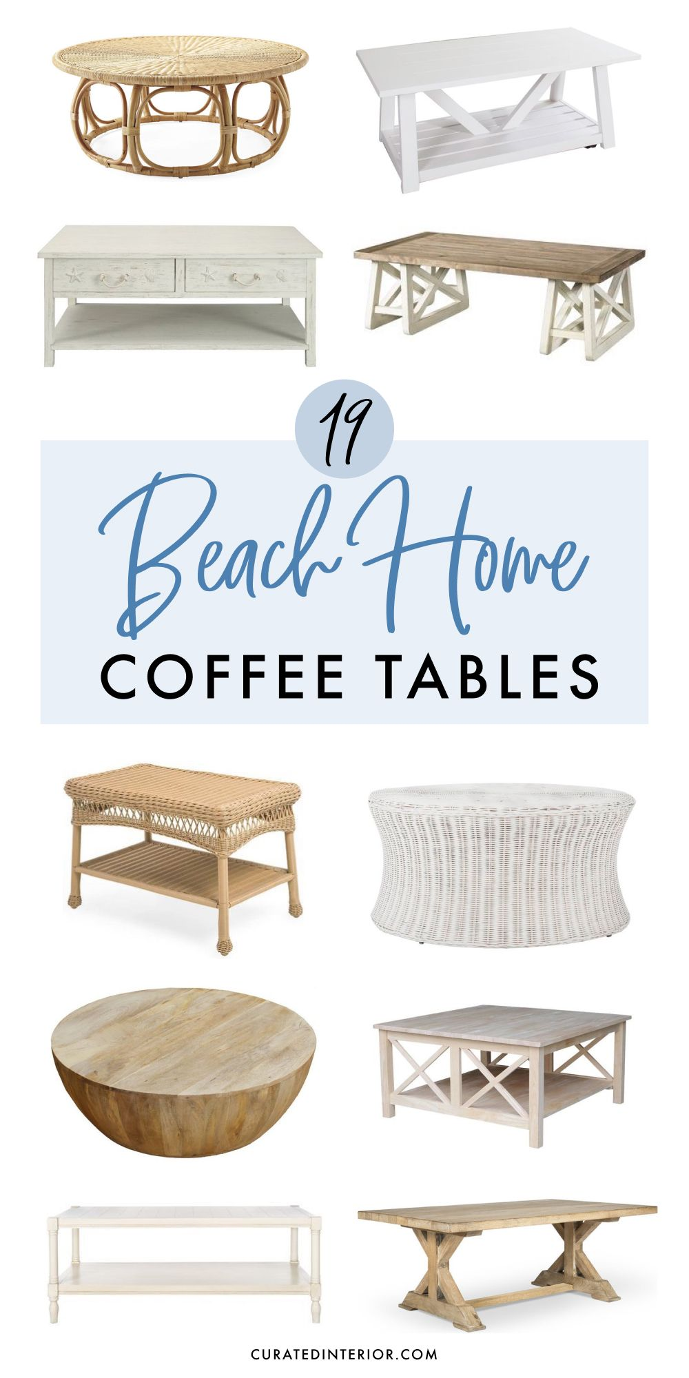 19 coastal coffee tables for your beach