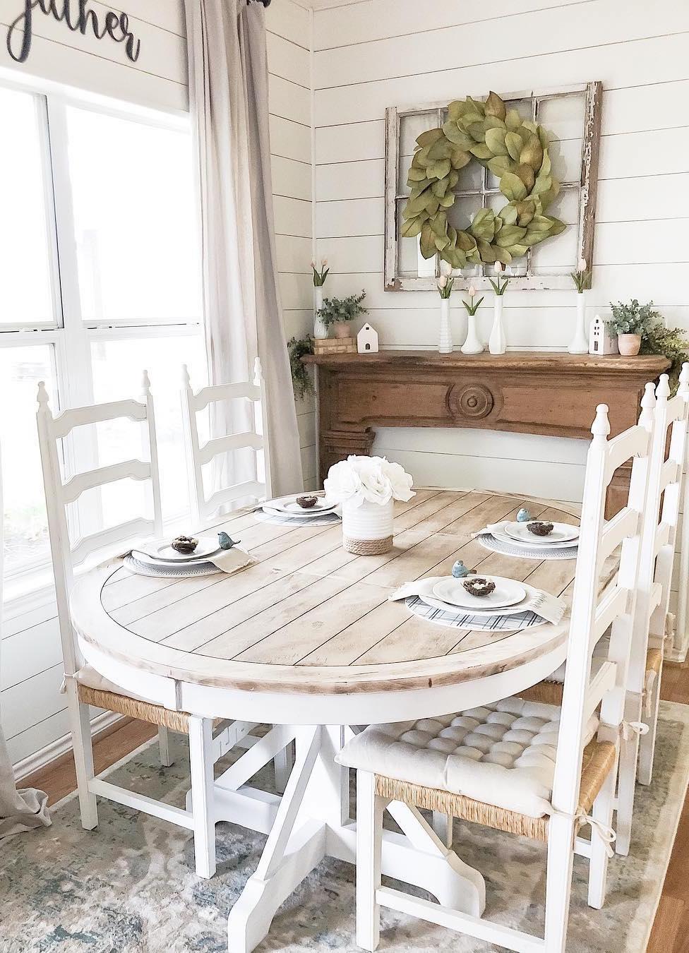 25 Best Farmhouse Dining Tables on Farmhouse Dining Room Curtains  id=49543