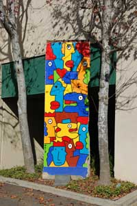 Berlin Wall painted slab