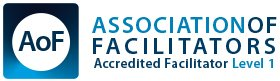 Logo of the Association of Facilitators Accredited Facilitator Level 1