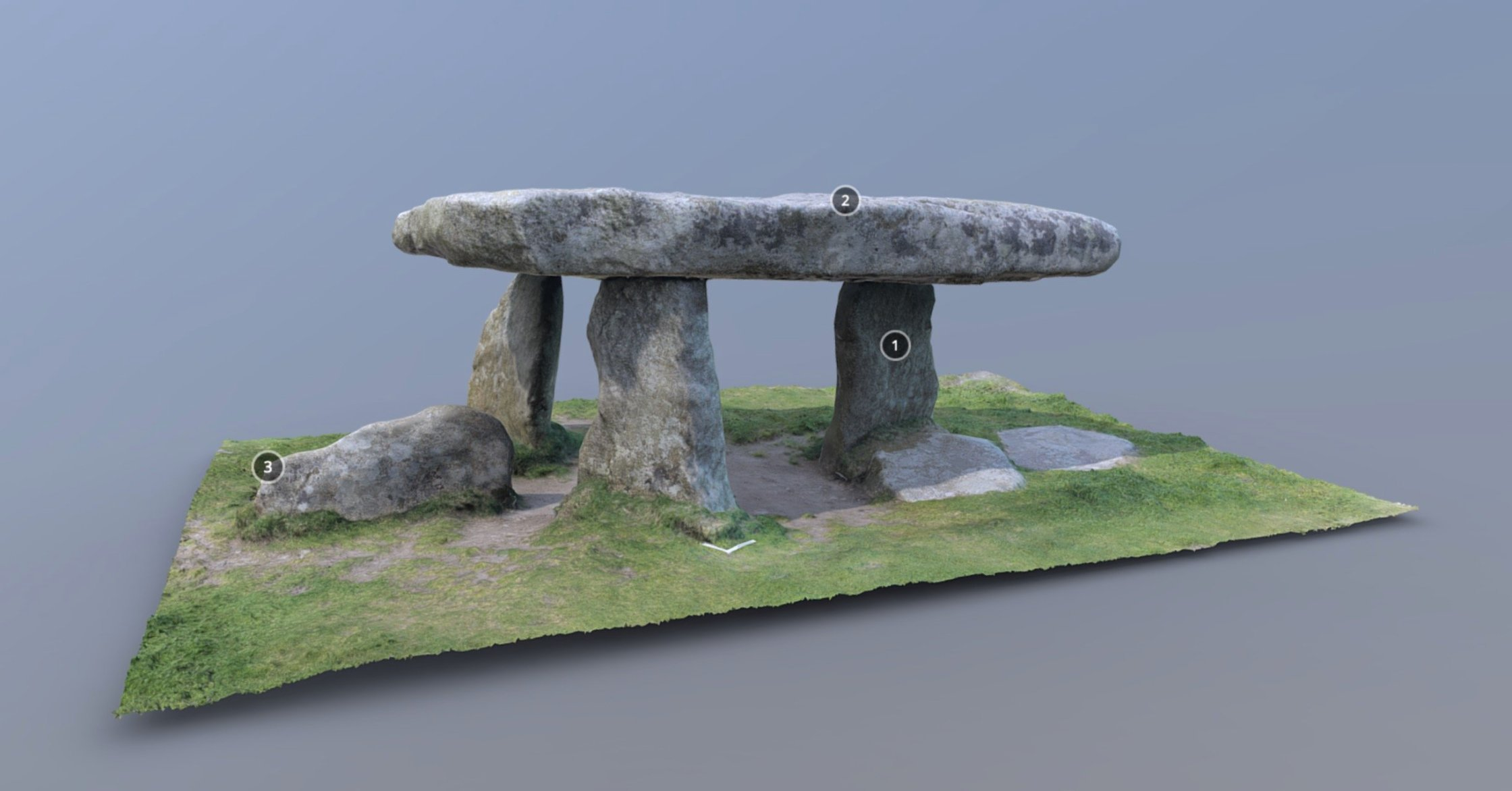 3D model of Lanyon Quoit