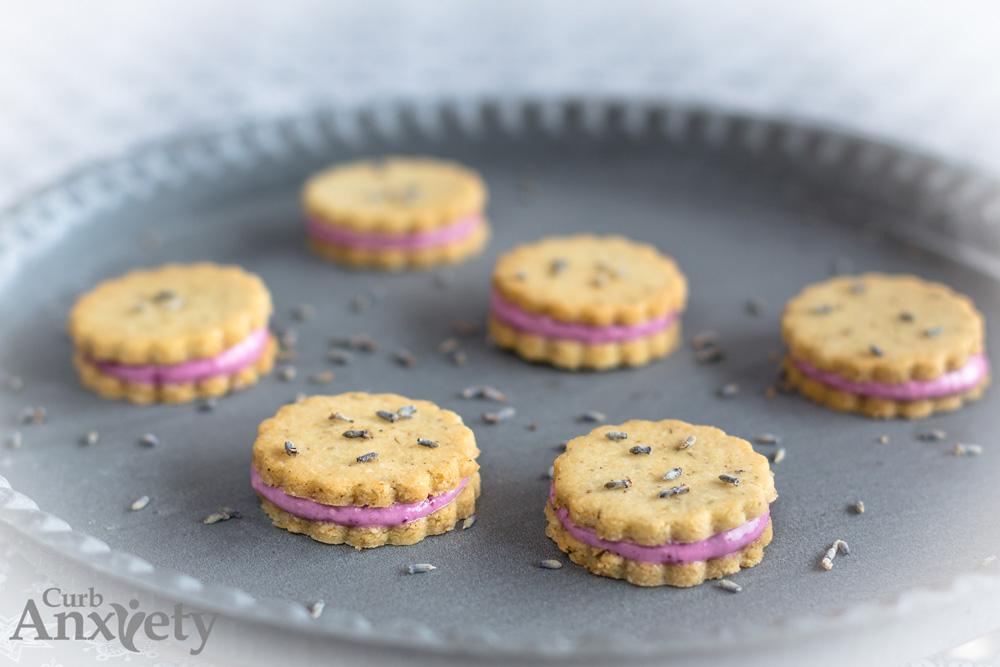 Good-for-You Lemon Filled Lavender Cookies