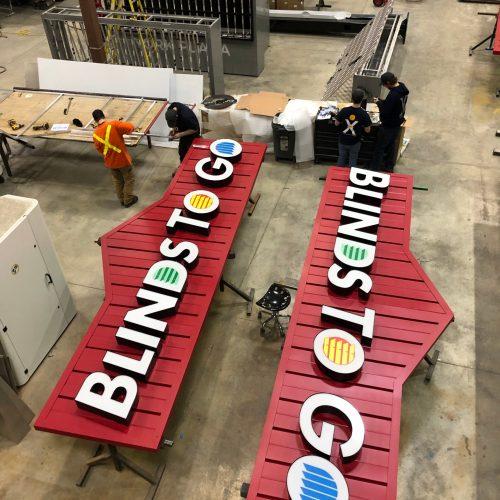 Blinds to go custom built sign