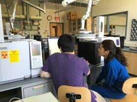 Ryan and Sonam analyzing their GC data
