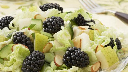 Blackberry Pear Asian Salad