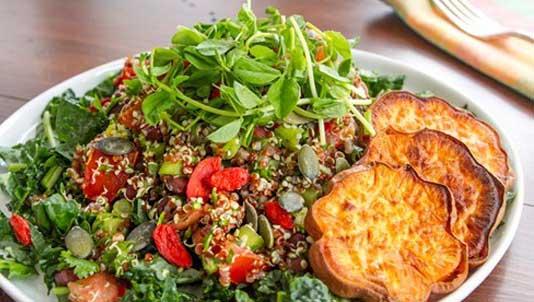 Adzuki Bean and Quinona Tabbouleh Salad