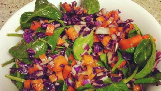 Delicious detox salad with Dijon maple dressing