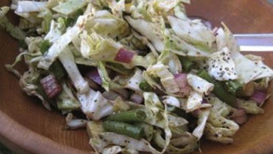 Green Bean Cabbage Salad
