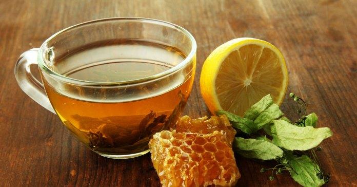 Honey and lemon in the morning