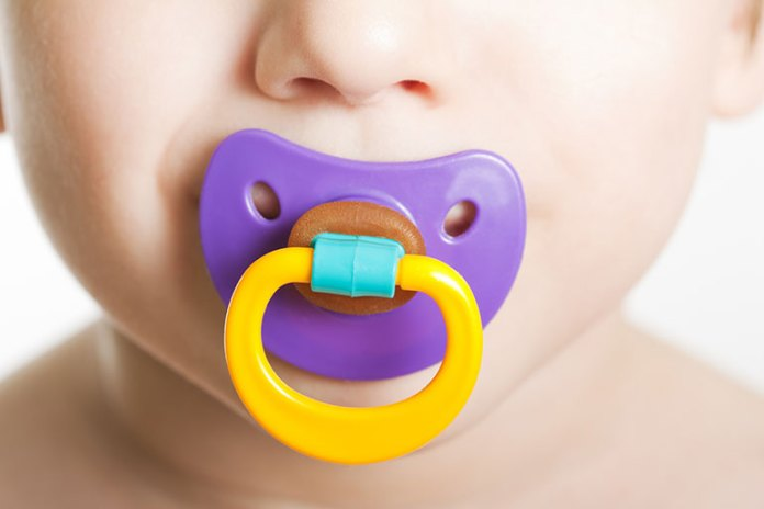 Give A Pacifier To Stop Hiccups Of Babies
