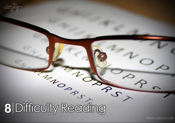 8-difficulty-reading