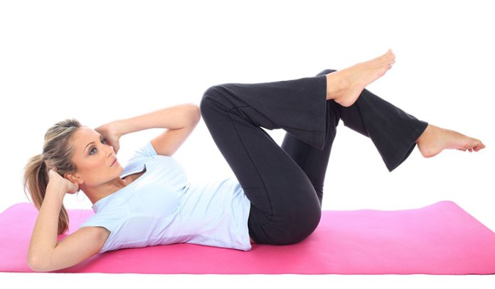 bicycle-maneuver: best exercises to lose belly fat