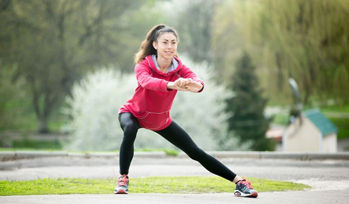 Side Lunge Exercise During Periods