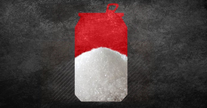 how many teaspoons of sugar are there in a can of coke