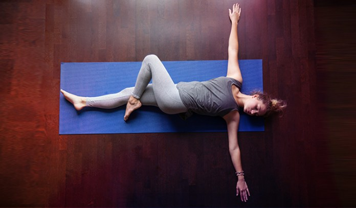 This pose helps to realign the spine and massages abdominal organs.