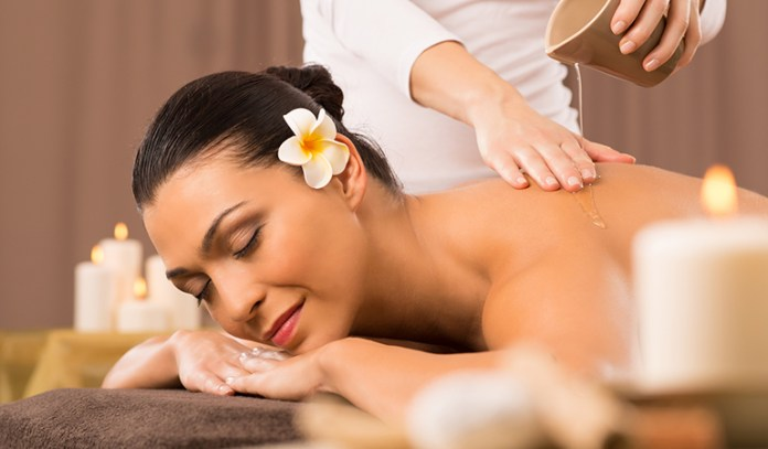 Abhyanga is massaging the whole body with oil before taking bath.
