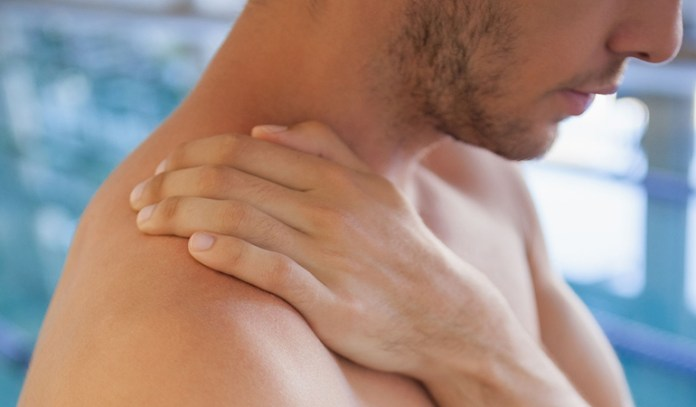 Swimming can cause a swimmer's neck
