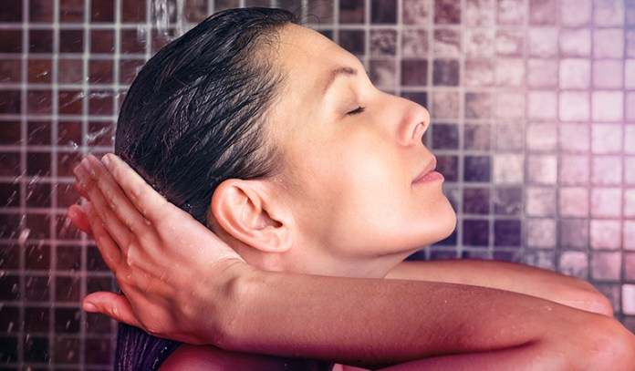 Cold water seals in moisture by closing pores on the scalp and keeping hair healthy