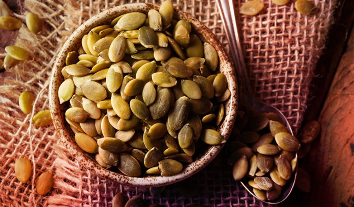 : roasted pumpkin seeds are a protein rich snack
