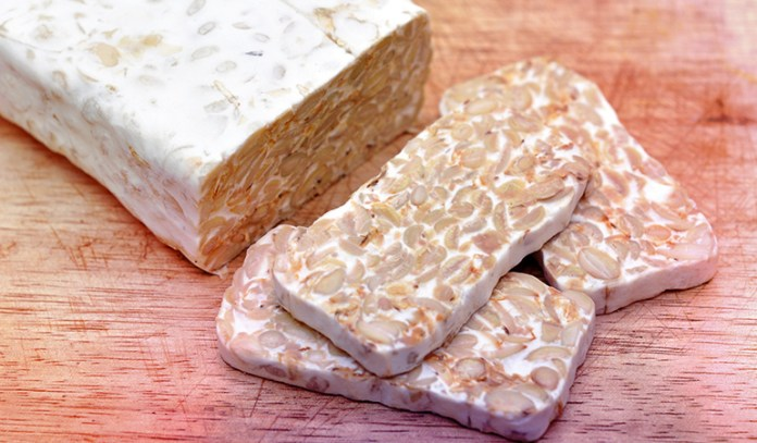 Tempeh is a form of fermented soy.